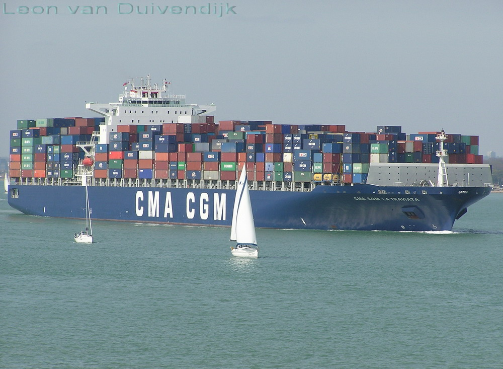 "CMA CGM La Traviata"" @ the port of Fawley, United Kingdom."